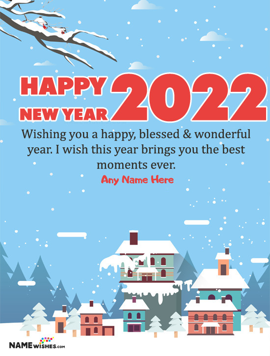 2021 New Year Wish With Your Name Online Edit