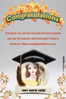 Congratulations Message For Graduation or Masters With Name