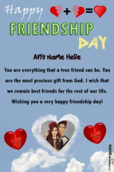 Friendship Day Quotes For Best Friend With Name and Pic
