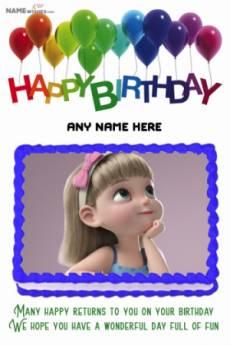 Full Photo Rectangular Happy birthday Cake with Name