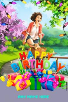 Happy Birthday Gifts Photo Frame With Name Edit Online