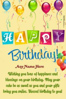 Happy Birthday Png Birthday Wish With Name Edit