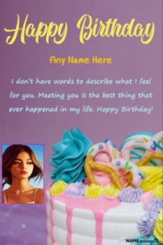 Happy Birthday Wish With Name and Photo