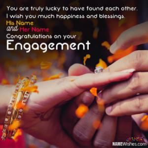 Amzing Engagement Wishes With Couple Names