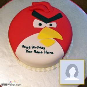 Angry Bird Birthday Cake With Name