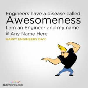 Awesomeness Attitude Engineers Day Wish With Name Edit