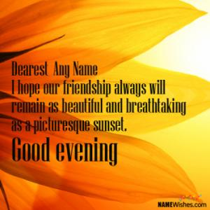 Awesome Good Evening Wishes With Name