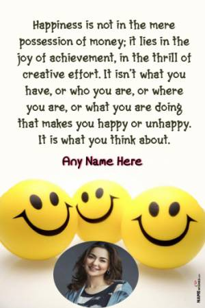 Awesome International Day of Happiness Wish With Name and Photo
