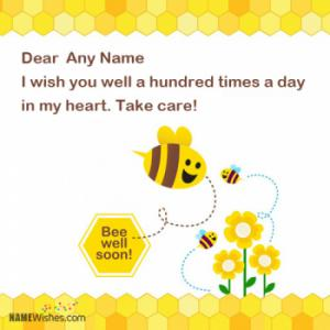 Get Well Soon Wishes With Name and Photo