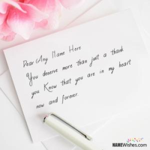 Beautiful Thank You Cards With Name