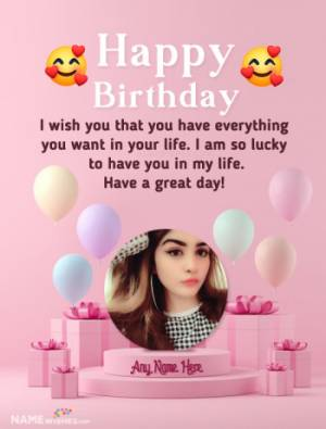 Best Birthday Wish With Name and Photo Ever On Internet