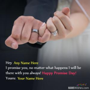 Best Ever Promise Day Wishes With Couple Names