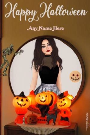 Halloween Wishes With Name and Photo