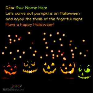 Best Halloween Wishes With Name