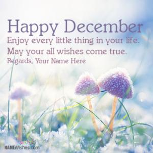 Best Happy December Wishes With Name