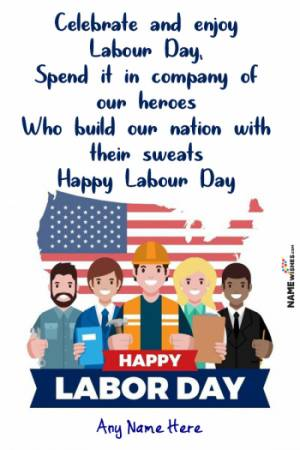 Best Labour Day Wishes with Name and Photo Edit