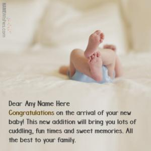 Best New Born Baby Wishes With Name