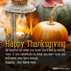 Best Thanksgiving Quotes With Name