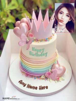 Birthday Cake For Sister With Name Queen Cake Wish