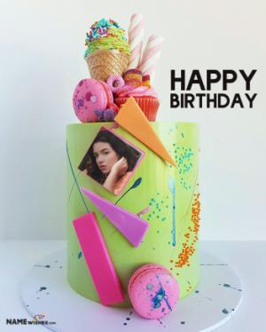 Birthday cake with photo - For Best Friend