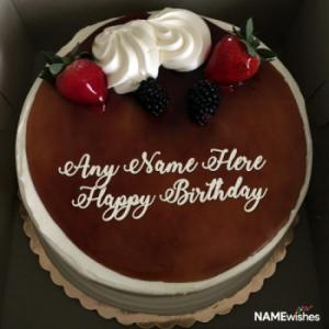 Chocolate Birthday Cake With Name For Friend
