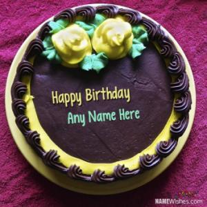 Chocolate Birthday Cake With Name