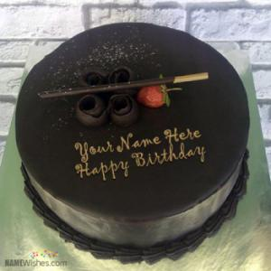 Chocolate Filled Birthday Cake With Name