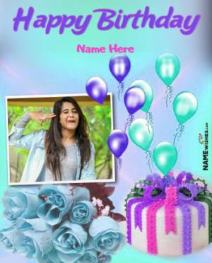 Colorful Happy Birthday Flowers Wish For Friends