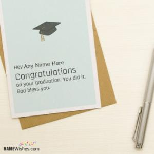 Congratulations On Your Graduation Name Card