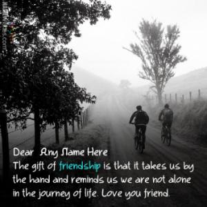 Cool Friendship Quotes Image With Name Editing