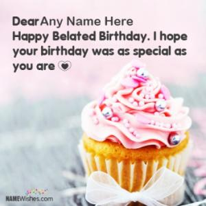 Cupcake Birthday Wishes With Name