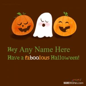 Cute Halloween Wishes With Name