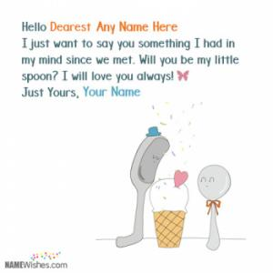 Cute Propose Day Wishes With Couple Names