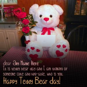 Cutest Teddy Bear Day Wishes With Couple Names