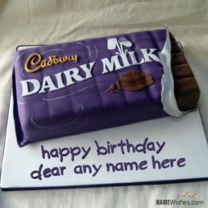 Dairy Milk Birthday Cake With Name