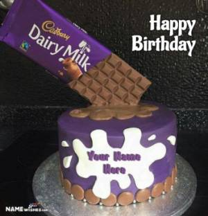 Dairy Milk Chocolate Birthday Cake With Name Edit