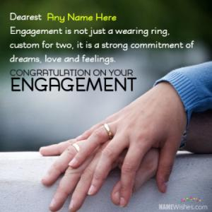 Engagement Congratulations Wishes With Couple Names