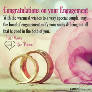Engagement Wishes With Couple Names