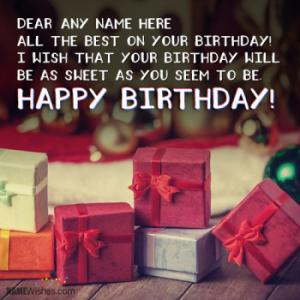 Fantastic Birthday Wishes With Name