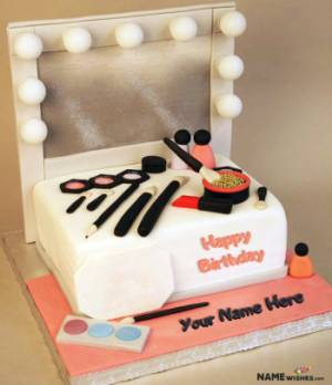 Fashion Birthday Cake With Name For Girls