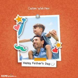 Fathers Day Personalized Photo Frame With Name