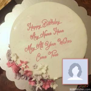 Fondant Birthday Cake With Name