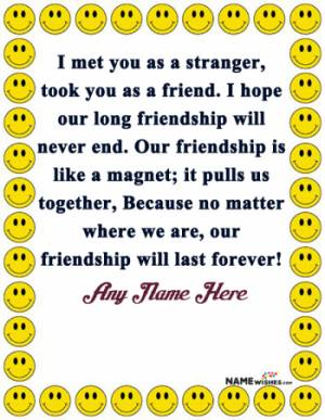 Freindship Love Poetry Lines With Name Edit Online