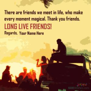 Friendship Quotes With Name Wishes