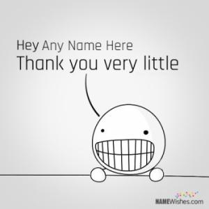 Funny Thank You Card With Name
