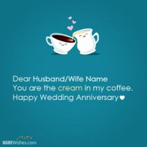 Funny Wedding Anniversary Wish With Name