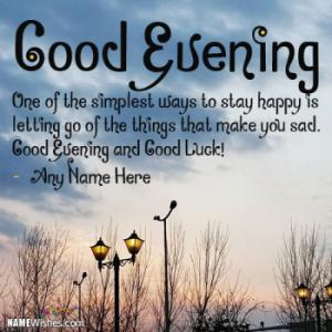 Good Evening and Good Luck Wishes With Name