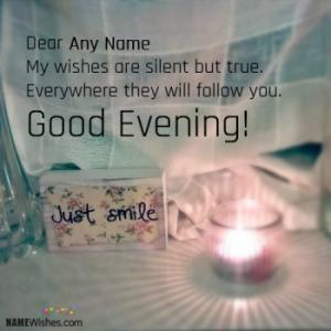 Beautiful Good Evening Image With Name Editing