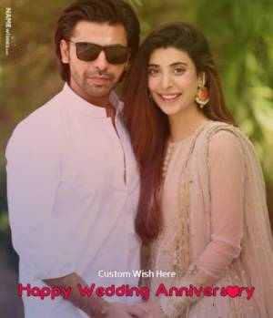 Happy Anniversary Photo Frame With Custom Wish