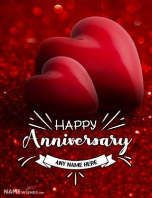 Happy Anniversary Wishes With Name and Full Photo